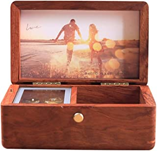 Musical Boxes Music Box Wooden Music Box Gift Birthday Gift Figurines (Color : Rosewood, Size : Free)
