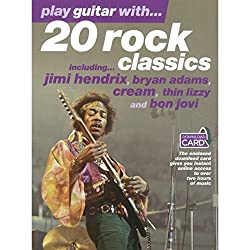 Play guitar with...20 rock classics (book/download card) +telechargement