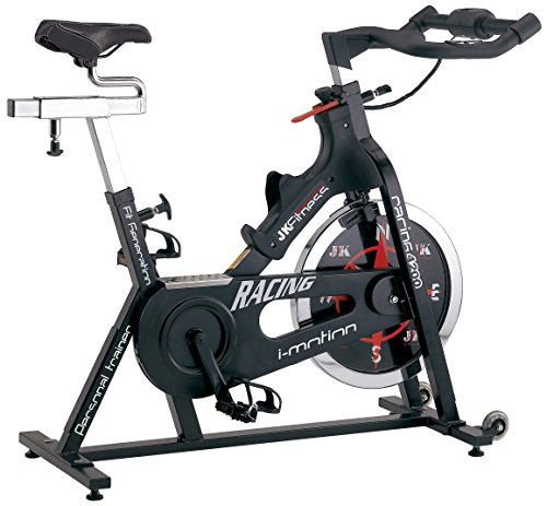 JK FITNESS Racing Spin Bike Trasmissione a Catena, Nero