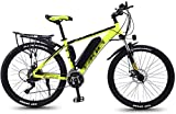 MQJ Ebikes Electric Mountain Bicicletas para Adultos, Todo Terreno Desplazamiento Deportivo Mountain Bike Mountain Suspension 350W Motor de la Rueda Trasera, 26 '' Neumático de Grasa E-Bike 27 Mtb Eb