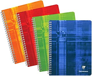 "Clairefontaine - Wirebound Notebook 6.75"" x 8.63"" French or College Ruled – 120 Pages"