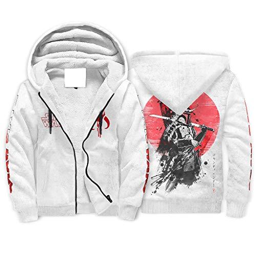 Mandalorian Samurai Star Wars - Sudadera con capucha y cremallera para hombre, diseño de Star Wars blanco XL