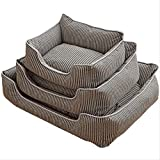 nobrand XYYXYX Cat Nest Dog Nest Removable And Washable Pet <span class='highlight'>Supplies</span> <span class='highlight'>Wholesale</span> Four Seasons Universal Cotton Linen New Pet Nest Dog Bed(M / 60 * 50cm)