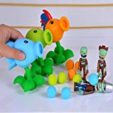 PVZ Plants vs Zombies Peashooter PVC Action Figure Model Toy 6pcs