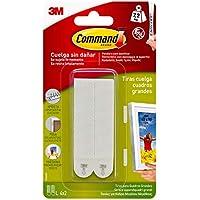 Command 17026CLR Ganchos mini para decoraci/ón con tiras transparente Pack de 20