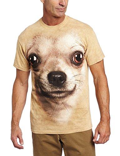 T-Shirt Adulte Chien-Chihuahua, braun, Large
