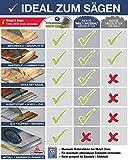 FALKENWALD ® Kreissägeblatt 254 x 30 mm - Ideal für Holz, Metall & Alu - Kappsägeblatt kompatibel mit Gehrungssäge & Tischkreissäge von Bosch & Metabo - Universal Sägeblatt aus hochwertigem Hartmetall - 4