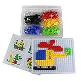 Jeux De Construction Puzzle Jouets Ma Première Mosaique Bloc Mosaic Puzzle Pegboard 490 Pièces 3 4 5 ans