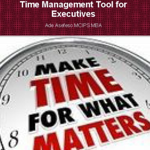 Time Management Tools for Executives audiobook cover art