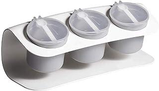 YYAI-HHJU Fournitures De Cuisine Boîte De Rangement pour Bouteille D'Assaisonnement Bocal avec Cuillère Condiment Fournitu...