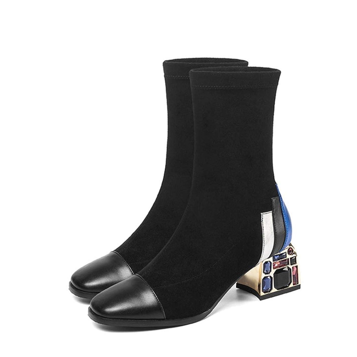 ランドマーク歴史性別[GZGZ] ショートブーツ スクエアトゥゥ ミドルヒール スエード レディース ブーツ 大きいサイズ ブーティ おしゃれ 旅行 仕事 就活 OL風 滑りにくい 疲れない 履きやすい 歩きやすい 脚長 披露宴 防寒 シンプル ソフト