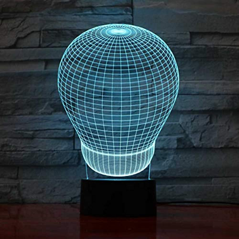 Wuqingren 3D Schreibtischlampe USB 7 Farben ndern Ballon Lampe Modellierung Atmosphre Touch Button LED Nachtlicht Baby Schlaf Licht Geschenke,Remote und berühren