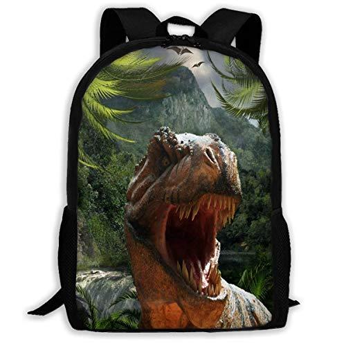 TTmom Schulrucksack,Schüler Bag,Rucksack Damen Herren Backpack Park Dinosaur Jungle Zipper School Bookbag Daypack Travel Rucksack Gym Bag for Man Women