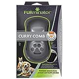 FURminator Striegel für Hunde-Fellpflege Hundebürste zum Ausbürsten von Staub und losem Haar für gesundes glänzendes Fell, mit Gummi Noppen und ergonisch geformtem Griff) - 2
