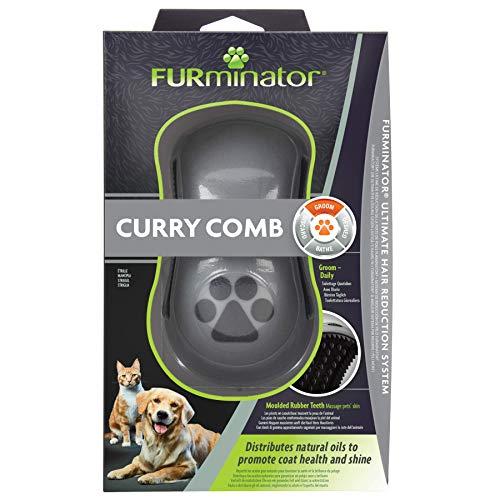 FURminator Striegel für Hunde, Fellpflege Hundebürste zum Ausbürsten von Staubundlosem Haar für gesundes glänzendes Fell, mit Gummi Noppen und ergonisch geformtem Griff - 2