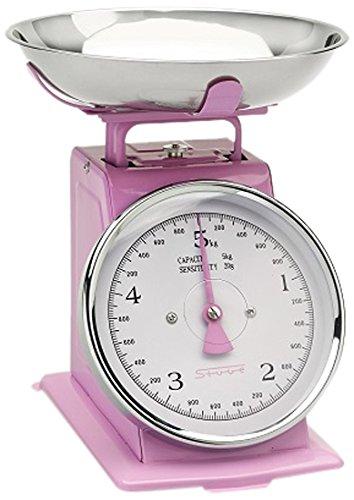 Stube 471–Küchenwaage analog, Pink, 200x 210x 255mm, Metall, Edelstahl)