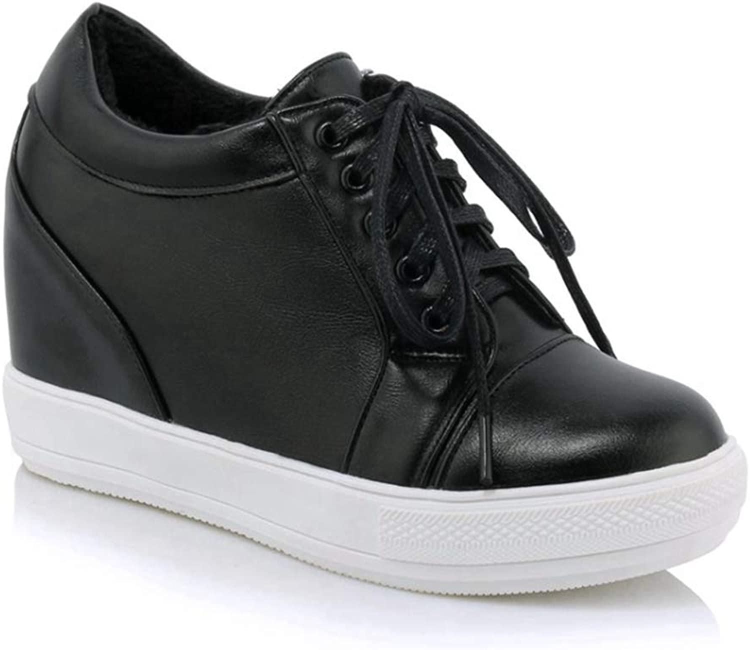 U-MAC Wedge Sneakers Athletic Walking shoes for Womens Low Cut Comfortable Non Skid Female Lady Plus Size