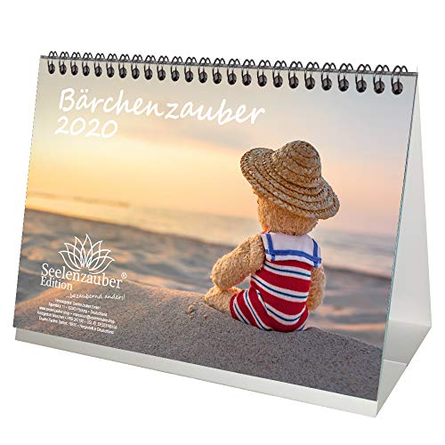 Beerchmagie DIN A5 kalender/tafelkalender 2020 teddy en beertjes cadeauset: 1 groet- en 1 kerstkaart - zeelmagie