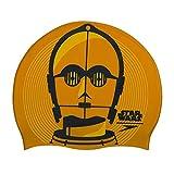 Speedo Slogan Print Cap AU Gorros de natación, Adultos Unisex, Gold/USA Charcoal/citreon, Talla única
