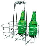 APS Portabottiglie 32 x 21,5 cm, altezza 32,5 cm, metallo cromato per 6 bottiglie in scatola colorata