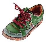 TMA Comfort Damen Leder Schuhe Schnürer 4181 Sneakers Grün Turnschuhe Halbschuhe Gr. 40