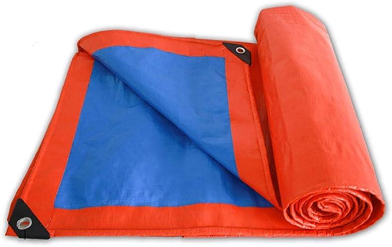 Bache Imperméable à l'eau Lourde, Couverture de Tente de Bateau de Camion de Couverture de Pluie de Tente de Camping Polyvalente, 100% Imperméable et UV Prougeégé (Taille   6M×6M)