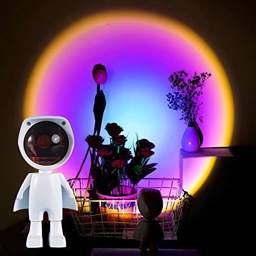Sunset Lamp, Sunset Projection Lamp, Sunset Lamp, Sunset Sunset Lamp,USB LED Proyector Luz, Proyector luces de 360°, Romántica Visual Lámpara de Ambiente Iluminación Dormitorio Decoración