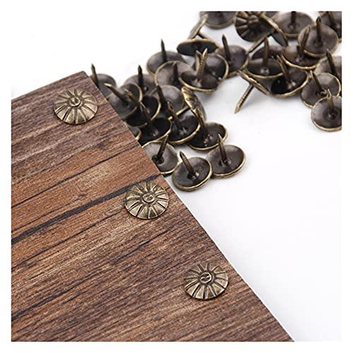 Clavo decorativo 100 unids de latón de oro uñas decorativas tachuelas de joyería aplicada caja de caja de regalo Pushpins Muebles Hardware Herramienta de carpintería 11x16mm Duradero y fácil de usar