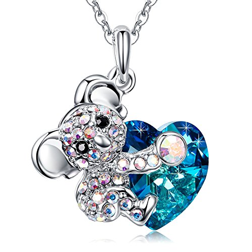 Koala Heart Pendant Necklace