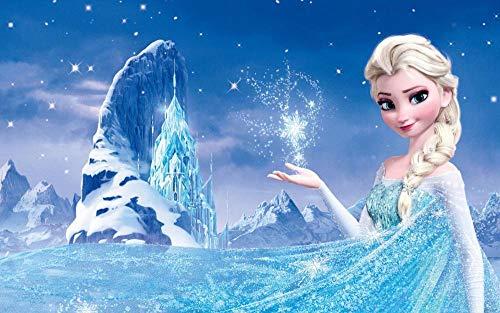 CHANGJIU- Puzzle De 1000 Piezas para Niños- Póster De La Princesa Elsa De La Película Frozen -Educación para Padres E Hijos, Rompecabezas Creativos, Descompresión para Adultos 75X50Cm