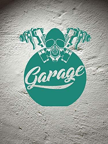 ASFGA Coole Maske Garage Wandtattoo Service Garage Wandkunst Dekoration Schlafzimmer Wohnzimmer Auto 51x57cm