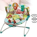 Rabbfay Rocker Portable pour Nouveau-né à Tout-Petit, Bouncer Vibrant pour bébé, chansons à emporter de bébé à Bascule avec des Vibrations apaisantes Balançoire Portable