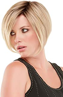 GNIMEGIL Short Straight Blonde Bob Wigs for Women Pixie Cut Dark Roots Natural Hair Replacement Wig in Heat Resistant Synt...