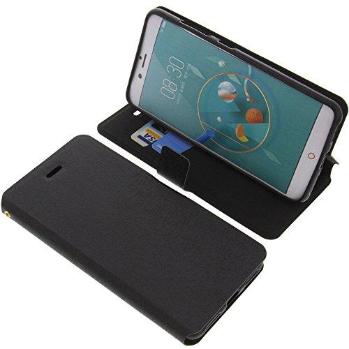 foto-kontor Tasche für ZTE Nubia Z17 Mini Book Style schwarz Schutz Hülle Buch