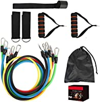 Exercise Resistance Bands Set,fitness Stretch Workout Bands Cord With Pull Ropes, Handles, Door Buckle, Foot Ring And...