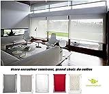 MadeInNature Store Enrouleur tamisant fenêtre Hauteur 180 cm différentes largeurs Plusieurs Coloris Disponibles de (Largeur Tissu Store 30 cm, Blanc)