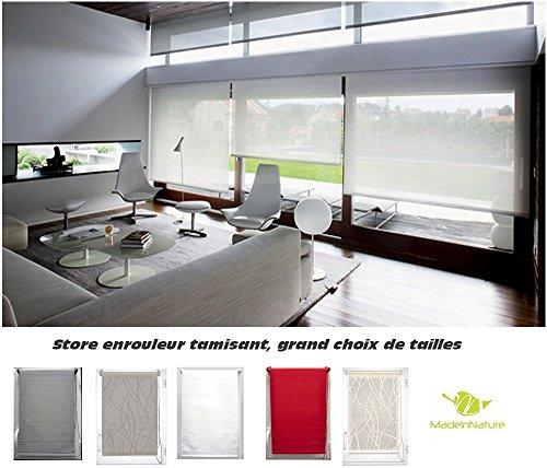 Madeinnature Store Enrouleur Tamisant Fenêtre Hauteur 180 Cm Différentes Largeurs Plusieurs Coloris Disponibles De Largeur Tissu Store 30 Cm Blanc