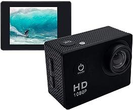 Dinger Kits de cámara de acción Deportiva HD 1080P Grabadora de videocámara DV a Prueba de Agua Cámaras de Video Deportivas y de acción con Soporte/Estuche Impermeable