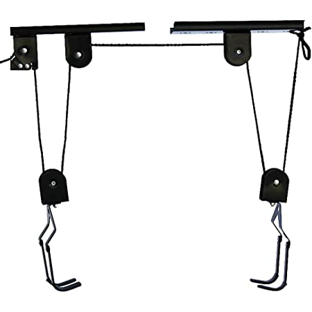 Details about  /Bike Bicycle Lift Hoist Pulley System Rack Ceiling Mounted Hanger Garage