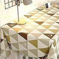 PVC長方形テーブルクロス、防水、耐油性、火傷防止の使い捨てテーブルクロス北欧のテーブルクロスは、家族の休日のディナー結婚披露宴のティーテーブルクロステーブルマットに適しています,15,135*220cm