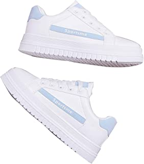 Old Shoes, Thick-Soled Students, Casual White Sports Shoes, Thick-Soled Women