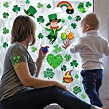 200 Pieces St. Patrick's Day Window Clings, Storm Door Glass Static Stickers for Saint Pattys Day Decorations, Shamrock Leprechaun Rainbow Coin Decals Ornaments Happy Irish Party Accessories Supplies(9 Sheets)