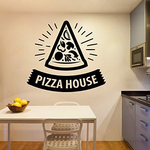 mlpnko Pizza Haus Vinyl Roll Möbel Dekoration Kinderzimmer natürliche Dekoration Hintergrund Wandkunst Aufkleber 50x55cm