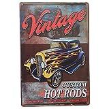 🥇 Placas Decorativas Metalicas Coches Hot Rods ✅ Carteles Vintage de Chapa Decorativa 🖱️...