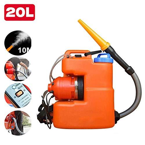 C&JQ ULV Electrica Sulfatadora Fogger Atomizador,20L Mochila Fumigadora Desinfección Pulverizador Nebulizador de Pesticida para higiene Interior/Exterior