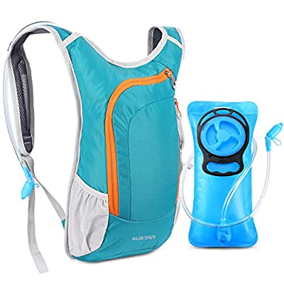 KUSTAR Hydration Pack,Hydration Backpack with 2L Leak-Proof Water Bladder BPA Free - Lightweight Water Pack for Running Cycling Hiking Climbing (Green)