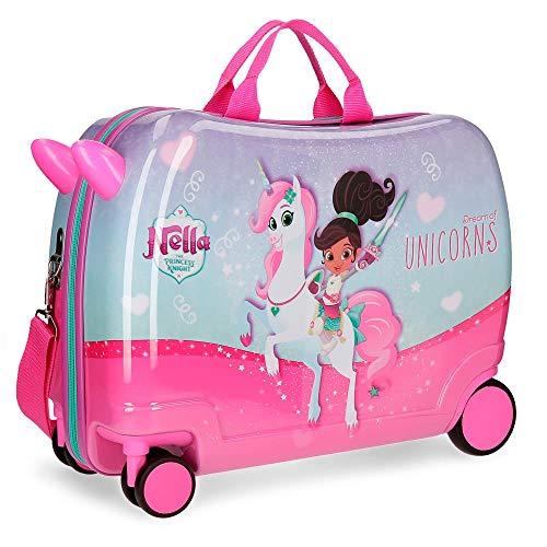 Nella Dreams of Unicorns Maleta Infantil Multicolor 50x38x20 cms Rígida ABS Cierre combinación 34L 2,3Kgs 4 Ruedas Equipaje de Mano