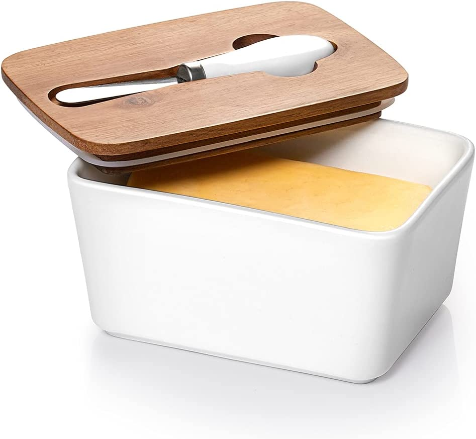 DOWAN Porcelain Butter Luxury goods Dish with Seattle Mall - Covered Containe Knife