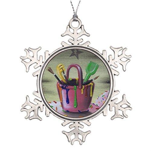 Cukudy Gepersonaliseerde kerstboom decoratie verblijf in de zandbak Kerstmis nowflake Ornamenten Banken