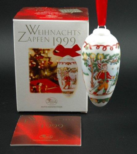 Hutschenreuther Weihnachtszapfen 1999, Zapfen, Porzellanzapfen, Weihnachten, Baumschmuck, Anhänger, Baumanhänger